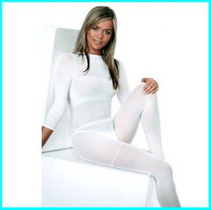 2019 HOT SALE !!! Weiß / Schwarz LPG Körper Roller Massage Kostüm Vacuum Abnehmen Anzug für Velashape Therapie-Maschine CE / DHL-freies Verschiffen