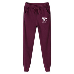 Cotton Homme Plus Size M-5XL Pantalones de chándal para hombre Fashion Eagle Impreso Fleece grueso Jogger Casual pantalones pantalones largos