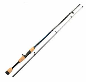 """2 extremidad que hace girar la caña de pescar 7 """"M acciones 6-12g señuelo peso Casting Lure Fishing Rod Envío gratis"""