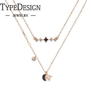 TYPE JEWELRY Stern Doppel Halskette Geist Sterne Mond - Anzug Für Frauen