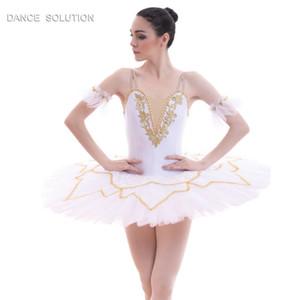 Tutu di balletto Pancake Costume di danza Stage Performance Pre-professionale Tutu Girl Women White Ballet Costumes