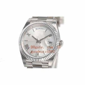 Mens DAY-DATE 회장 40MM 228239 화이트 골드 실버 쿼드런트 모티브 다이얼 2831 자동식 스포츠 Textured Wristwatches