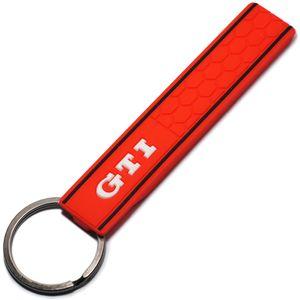Cool Silicone GTI Logo Emblem Badge Car Keychain Portachiavi per VW Golf MK2 MK3 MK4 MK5 MK6 MK7 Polo Car Styling Accessori Auto