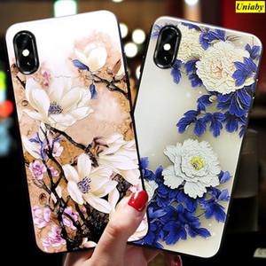 ل iPhone XS Case 3d relief Floral Case جميل لابل اي فون غطاء XS ماتي مضاد للخبط غطاء القضية