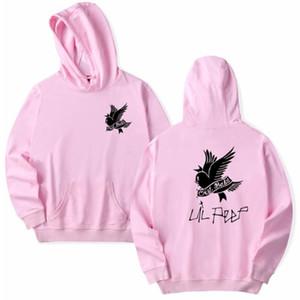 Lil Peep Hoodies Hombres Streetwear Sudadera con capucha Sudaderas Hombre Hip Hop Hoddies Cry Baby Harajuku Mujeres Sudadera con capucha Negro Rosa Rojo