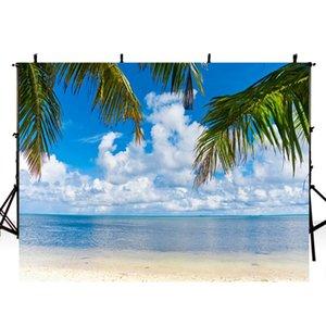 해변 사진 배경 방학 하와이 루아 파티 배경 사진을위한 바다 배경 Photo Studio Photocall Boda