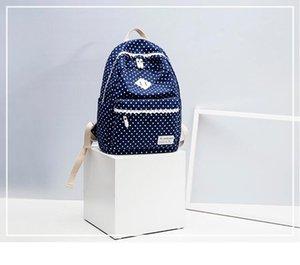 Cartable Canva + Oxford tissu Tissu Sac à dos La mode loisirs Sac à dos rayé Sacs de voyage outdoor Sac à dos grande capacité A24