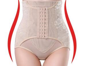 vente en gros taille formateur contrôle culotte femmes corps shaper bas stretch bout à bout taille haute taille minceur sous-vêtements 3 lignes crochets a143