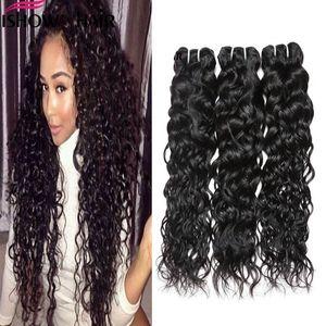 IShow humaine brésilienne vague d'eau Extensions de cheveux gros 8a humide et non transformés péruvienne Weavy Vrigin Human Bundles cheveux Livraison gratuite