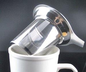 Nuevo Llega Reutilizable Doble Acero Inoxidable Malla Café Té Herramienta Flotante Residuo Colador Suelta Filtro de Hoja de Té