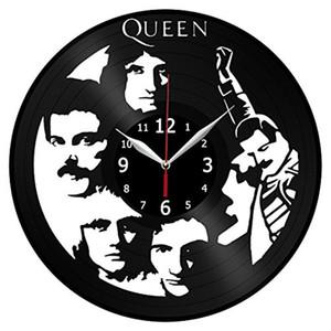 Reina reloj de pared de vinilo Sencillo y moderno decoración del hogar manualidades creativas regalos hechos a mano Decoración sala de estar reloj de cuarzo negro