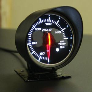 Envío gratis 60 mm 2.5 pulgadas DEFI BF estilo indicador de velocidad del aceite del coche calibrador con sensor de temperatura de aceite de luz blanca roja