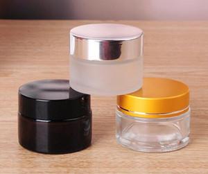 10г стеклянная баночка 10 мл небольшой косметический контейнер прозрачный янтарный матовый прозрачного цвета с крышкой из черного золота серебристая крышка для воска Ecig крем