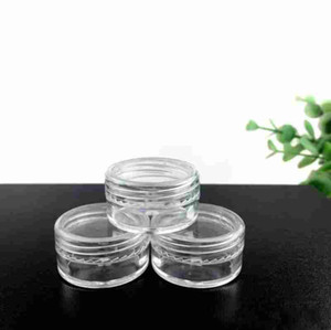 Empty Plastic Cosmetic Cream Jar Pot Eyeshadow Makeup Face Cream Container Free Shipping 5G Portable transparent