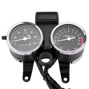 오토바이는 스즈키 GN125에 대한 LED 속도계 주행 속도계 게이지를 수정