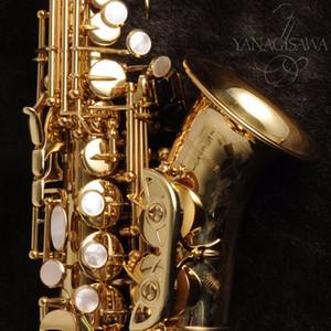 New Arrival Japan Yanagisawa Brass Gold Lacquer Soprano Saxophone B-flat Saxophone Professional Musical Instrument Fast Shipping