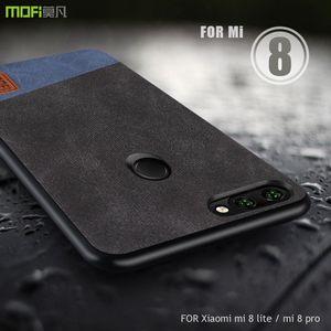 Pour Xiaomi mi 8 lite housse MOFI Xiaomi mi 8 pro Housse en cuir de couverture pour xiaomi mi 8X / mi8 lite Coque de protection complète