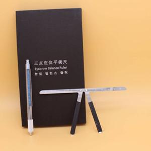1 Pz Tre Punti di Trucco Permanente Sopracciglio Balance Righello Sopracciglio Microblading Strumento di Misura Trucco Permanente