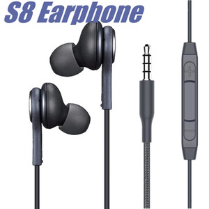 S8 Samsung Galaxy Not için Kulak Kulaççi Kulaklıklar Kulaklıklar S7 S8 Artı Kulak 3.5mm Kulaklıklar Mikrofon EO-IG9550 Siyah Beyaz Kulaklık