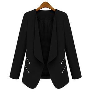Ceket kadın chaqueta mujer Uzun Kollu Gevşek Katı V Boyun Açık Dikiş Ceket Hırka vadim harajuku femme bulanık Kabanlar