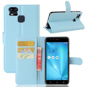 Новый модный чехол для Asus zenfone 3 Zoom ZE553KL классический флип кожаный бумажник стенд чехол мягкая крышка TPU