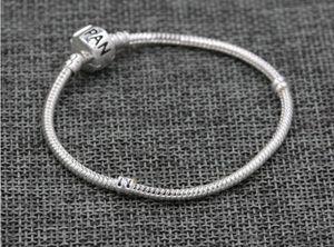 Европа популярные посеребренные брелки 3 мм змея цепи для DIY личности подвески браслеты, печать Пан логотип на застежке для ювелирных изделий