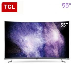 TCL 55 pollici superficie curva ad altissima chiaro 4K TV, tutto HDR ecologico caldo nuovi prodotti liberi di trasporto
