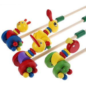 Baby Wooden Toys for Children Puzzle Colorful Putting Cute Cartoon Animals Wooden Puzzles Trolley Kids Toys Wood Toy Random