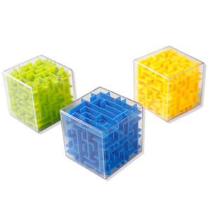 Criativa Transparente Mini 3D velocidade Cube Maze Magic Ball Adultos enigma Inteligência Crianças da Primeira Infância Educação enigma Brinquedos