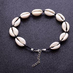 Fashion Jewelry Choker Collar Bohemian Shell Pendant Necklace Punk Womens Boho Beach Collier Femme Bead Necklaces Gift