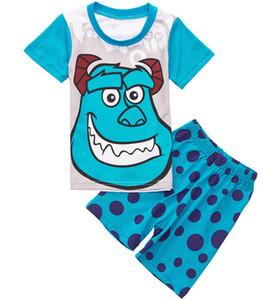 جديد وصول قطعة واحدة الفتيات الصيف قصيرة الأكمام منامة القطن الكرتون ، البيجامات الأطفال ، يرتدي الطفل لمدة 2-7 سنوات