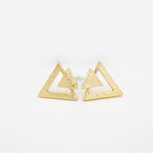 Boucles d'oreilles triangle de la mode Trois boucles d'oreilles triangle de la pile de la personnalité combinaison de triangle pour les femmes