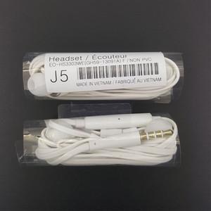 S4 auriculares en la oreja J5 Auriculares auriculares con micrófono control de volumen auriculares de 3.5 mm para Samsung Galaxy S4 S6 S8 nota 9 8 7 6 con la caja al por menor 200PC