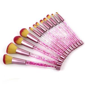 Date 12pcs Licorne Sirène maquillage pinceaux Cristal Clair Cosmétiques Brosses Poudre Fard À Paupières Fondation Maquillage Outil 17 * 3CM