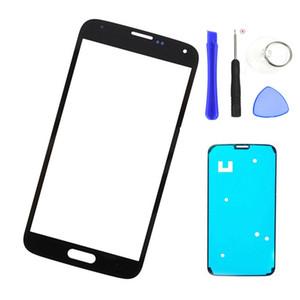 Pièces de rechange de verre externe pour Samsung Galaxy S5 mini-verre G800 écran LCD tactile lentille frontale avec les outils adhésif