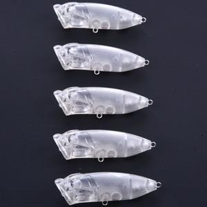 7 см / 10 г топ воды Поппер пустой жесткий неокрашенная Рыбалка приманки воблеры воблеры приманки