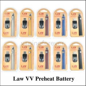 Lei Pré-aqueça a Bateria Com Kit de Carregador USB 1100 mAh O Caneta Função Bud Touch Tensão Variável 510 Rosca Fit CE3 G2 G5 Cartuchos