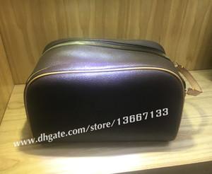 Frete Grátis Designer de Moda dos homens de Viagem saco higiênico Couro Genuíno de grande capacidade sacos de cosméticos bolsa de maquiagem bolsa de higiene para as mulheres