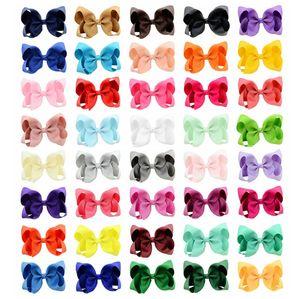 40 colores 6in moda bebé cinta arco horquilla clips chicas Bowknot grande Barrette Kids Hair Boutique arcos niños accesorios para el cabello por mayor