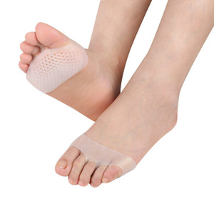 النساء سيليكون جل النعال الأمامية سادة عالية الكعب امتصاص الصدمة المضادة للانزلاق قدم الألم الرعاية الصحية الأحذية نعل