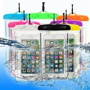 Pochette étanche Sac de protection de sac de téléphone universel en PVC avec compas pour la plongée sous-marine pour téléphone intelligent