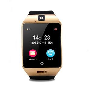 Q18S NFC Smart Watch avec Rappel d'appel de la caméra Bluetooth Montre-Bracelet Soutien SIM TF Carte à écran tactile Smartwatch pour IOS Android téléphone