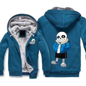 undertale Costumes Thickness Hoodies Adult Velvet Baseball Sweatshirts Sans men Winter Jacket Hat Coat M-5XL Big size