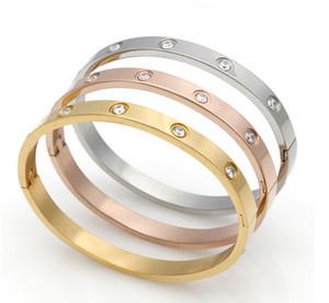десять из нержавеющей стали бур вакуум 18 KK Gold Edition Корейский пара, женщин и женщин пряжки браслет кольцо вечности