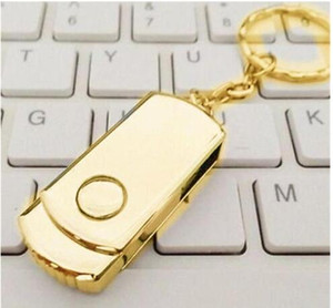 100% real capacity 8gb 16gb 32gb 4gb Gold Silver Metal With Key ring Swive USB 2.0 Flash Drive Memory for Android ISO Smartphones Tablets