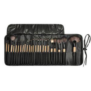 Alta qualidade Profissional de Maquiagem Brushes Set 24 pcs Portátil Completa Cosméticos Make up Brushes Ferramenta Fundação Sombra Lip brush com Saco DHL