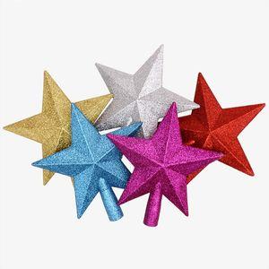 1PCS 골드 파우더 크리스마스 스타 뜨거운 판매 새로운 귀여운 15cm 크리스마스 트리 Toppers 크리스마스 트리 장식 크리스마스