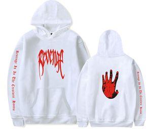 Hop Men Palm Print Sweater Hip Hands Women Mens Painted Hoodies Hooded Sweatshirt XXXTENTACION Rapper REVENGE Pullover XXX Tops Qkfuq