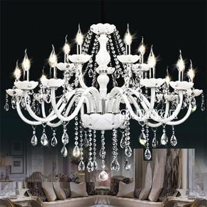 Lampadario moderno in cristallo bianco Luci Lampadari per lampada per camera da letto Soggiorno Plafoniera in cristallo Illuminazione Lustres de crista