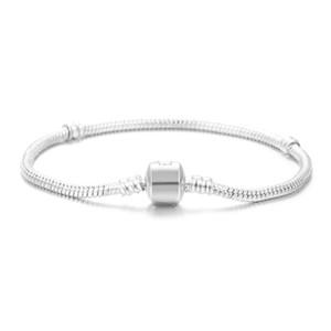 Оптовая стерлингового серебра 925 покрытием основные змея цепи браслет DIY подвески бусины ювелирные изделия Fit Pandora браслеты браслеты 3 мм 16 см-23 см